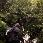 Mr Watkins OAS1 class tramping all the way down to Dawson Falls, Mt Taranaki, 7/6/18.