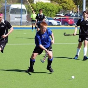With seven goals in two games, WHS student Blake Hoskin is top scorer for the Whanganui boys at their National U15 Hockey champs in Dunedin, Chronicle 3/10/18.