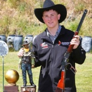 BRADLEY MCDOWELL WINS BACK-TO-BACK NZ COWBOY ACTION SHOOTING TITLES, Chronicle 21/11/18. Photo / Stuart Munro.