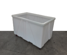 Plastic 1000L Industrial Laundry Trolley with Castors