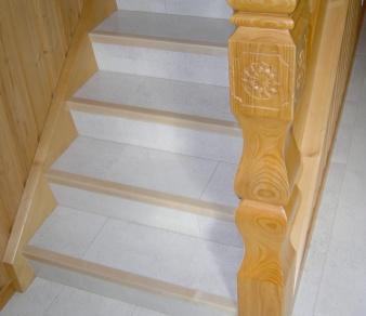 Kork auf Treppe