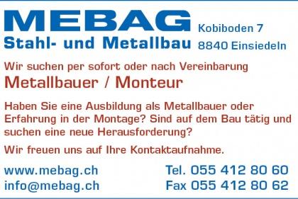 Inserat Metallbauer / Monteur
