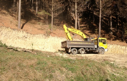 Road construction in Greenoch