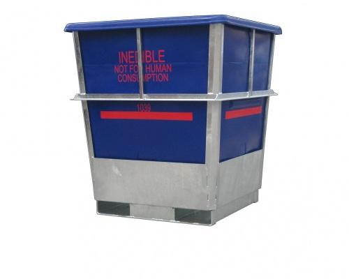 steel framed plastic offal bin