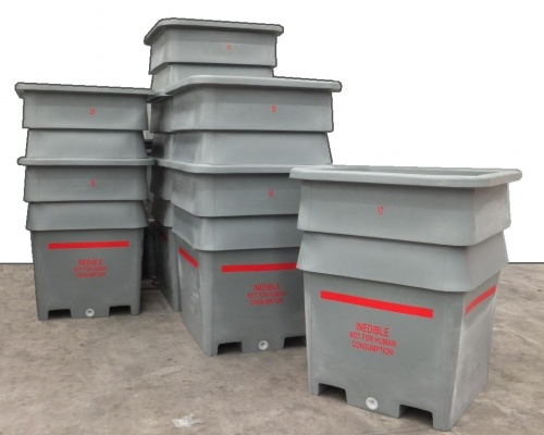 1300L offal hide skins pelts bin