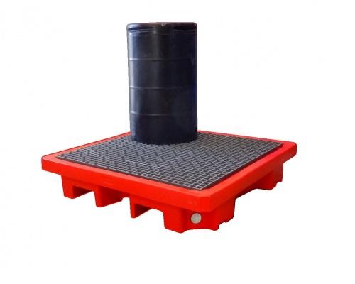 drum bund deck + FRP Grate - Plast-ax