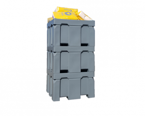 Plast-ax Twin Wall Insulated Box Pallet Bin - Four Way Fork Entry