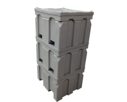 Plast-ax 1200 x 1000 Pallet Boxes stacked