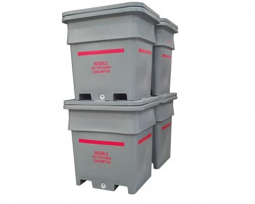 1000L Plast-ax Offal Bin Double Stack Twin Lid