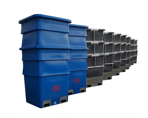 1400 Plastic Heavy Duty Offal and Hide Bins