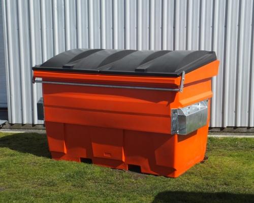 Plastic 2 m3 front load bin Plast-ax