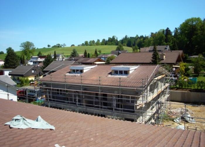 Dach mit Lukarne erstellt