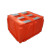 Plast-ax industrial box pallet bin 1400 x 1150 x 875 h