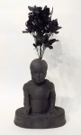 St. Cyricus; PLA, artificial flowers and Epoxy, 40 x 15 x 60 cm