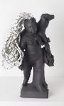 Charlottenburg Child; PLA plastic, rope, resin, and epoxy, 20 x 23 x 45 cm
