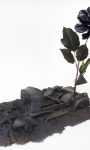 Half Buried Model T (The Willey Murders);  PLA plastic, artificial flowers, resin and epoxy,  50 x 25 x 25 cm