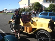 Gavin Harris with his Model T