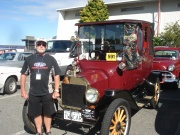 Morrinsville's Les Webster with his fabulous Ford T
