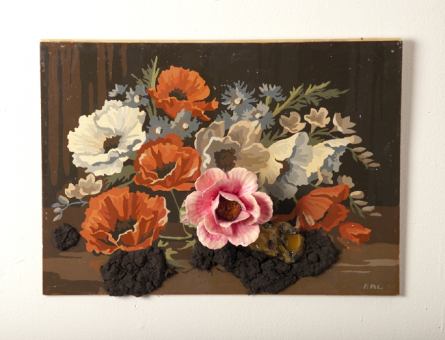 Flower Painting with Soil and Bees