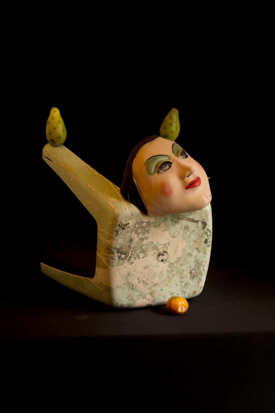 Self Portrait as a Post Colombian Sculpture