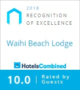 Hotels Combined Excellence Award 2018 Waihi Beach Lodge